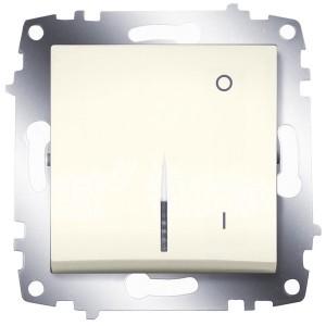 Выключатель двухполюсный с подсветкой ABB Cosmo кремовый