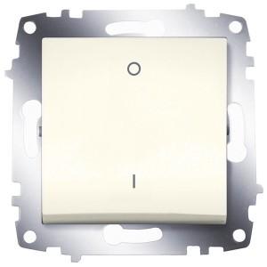 Выключатель двухполюсный ABB Cosmo кремовый