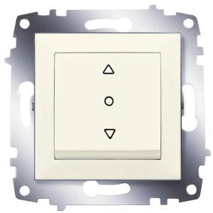 Выключатель жалюзи 3-х позиционный ABB Cosmo кремовый