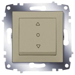 Выключатель жалюзи 3-х позиционный ABB Cosmo титаниум