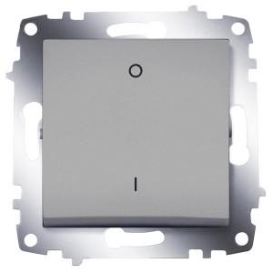 Выключатель двухполюсный ABB Cosmo алюминий