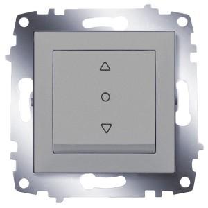 Выключатель жалюзи 3-х позиционный ABB Cosmo алюминий