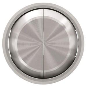 Клавиша для 2-клавишных выключателей/переключателей ABB SKY Moon, кольцо хром (8611 CR)