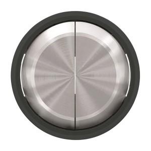 Клавиша для 2-клавишных выключателей/переключателей ABB SKY Moon, кольцо чёрное стекло (8611 CN)
