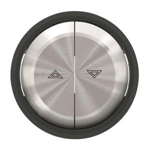 Клавиша для выключателя жалюзи 8144 и 8144.1 ABB SKY Moon, кольцо чёрное стекло (8644 CN)