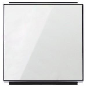 Клавиша для 1-клавишных выключателей/переключателей/кнопок ABB Sky, стекло белое (8501 CB)