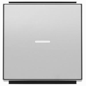 Клавиша для 1-клавишных выключателей с линзой подсветки ABB Sky, серебристый алюминий (8501.3 PL)
