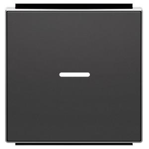 Клавиша для 1-клавишных выключателей с линзой подсветки ABB Sky, чёрный бархат (8501.3 NS)