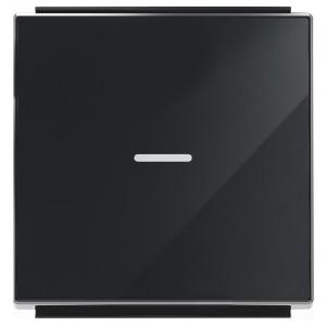 Клавиша для 1-клавишных выключателей с линзой подсветки ABB Sky,стекло чёрное (8501.3 CN)
