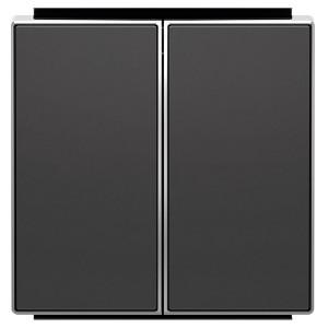 Клавиша для 2-клавишных выключателей/переключателей/кнопок ABB Sky, чёрный бархат (8511 NS)