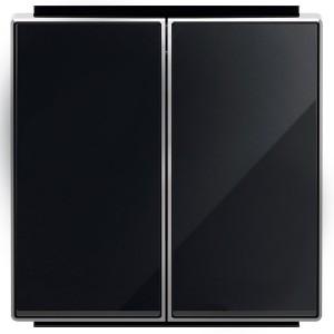 Клавиша для 2-клавишных выключателей/переключателей/кнопок ABB Sky, стекло чёрное (8511 CN)