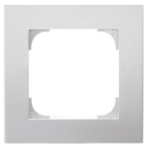 Рамка ABB Sky 1 пост, серебристый алюминий (8571 PL)