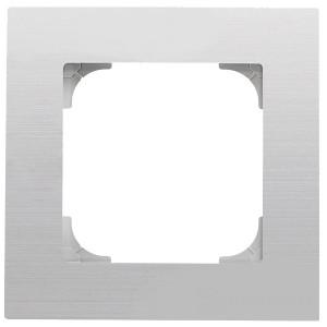 Рамка ABB Sky 1 пост, нержавеющая сталь (8571 AI)