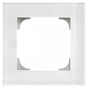 Рамка ABB Sky 1 пост, стекло белое (8571 CB)