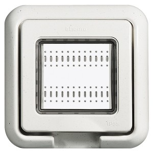 Влагозащитная крышка IP55 Idrobox 2 модуля LivingLight белый