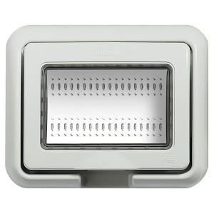 Влагозащитная крышка IP55 Idrobox 3 модуля LivingLight серый RAL7035