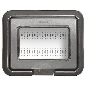 Влагозащитная крышка IP55 Idrobox 3 модуля LivingLight серый Living