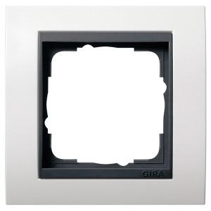 Рамка 1-ая Gira Event Матово-Белый цвет вставки Антрацит