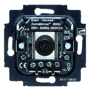 Механизм универсального клавишного светорегулятора 60-420 Вт/ВА ABB (6593 U-500)