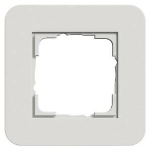Рамка 1-ая Gira E3 Soft-Touch Светло-серый с белой глянцевой несущей рамкой