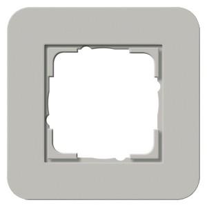 Рамка 1-ая Gira E3 Soft-Touch Серый с белой глянцевой несущей рамкой