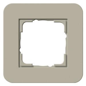 Рамка 1-ая Gira E3 Soft-Touch Серо-бежевый с белой глянцевой несущей рамкой