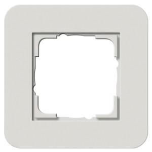 Рамка 1-ая Gira E3 Soft-Touch Светло-серый с антрацитовой несущей рамкой