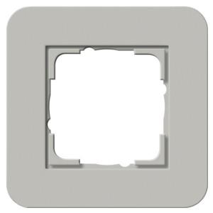 Рамка 1-ая Gira E3 Soft-Touch Серый с антрацитовой несущей рамкой