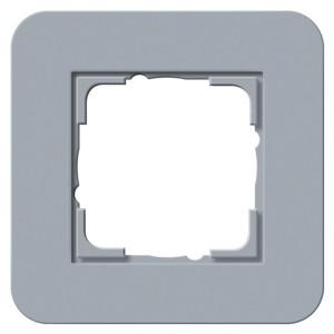 Рамка 1-ая Gira E3 Soft-Touch Серо-голубой с антрацитовой несущей рамкой
