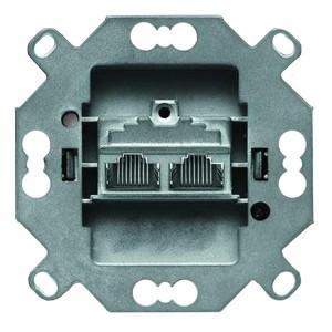 Розетка 2-я компьютерная раздельная RJ45 категория 6е АВВ (0218/12-101-507)