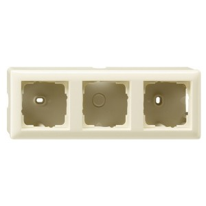 Корпус 3-ой для накладного монтажа с рамкой Standard 55 Gira System 55 Крем глянцевый