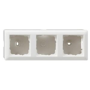 Корпус 3-ой для накладного монтажа с рамкой Standard 55 Gira System 55 Белый глянцевый