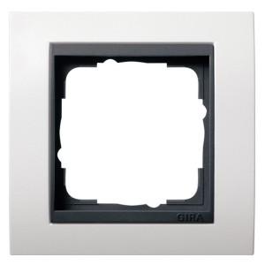 Рамка 1-ая Gira Event Белый Глянцевый цвет вставки Антрацит