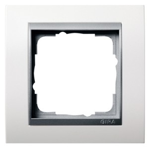 Рамка 1-ая Gira Event Белый Глянцевый цвет вставки Алюминий