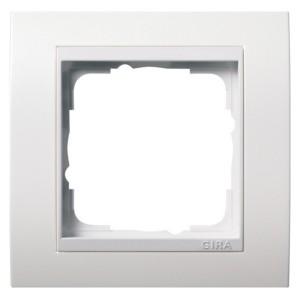 Рамка 1-ая Gira Event Белый цвет вставки Белый глянцевый