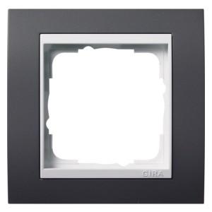 Рамка 1-ая Gira Event Антрацит цвет вставки Белый глянцевый