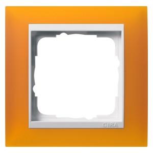 Рамка 1-ая Gira Event Матово-Янтарный цвет вставки Белый глянцевый