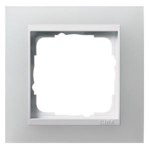 Рамка 1-ая Gira Event Матово-Белый цвет вставки Белый глянцевый