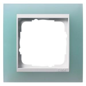 Рамка 1-ая Gira Event Матово-Зеленый цвет вставки Белый глянцевый