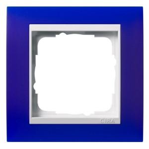 Рамка 1-ая Gira Event Матово-Синий цвет вставки Белый глянцевый