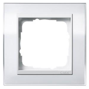 Рамка 1-ая Gira Event Clear Белый цвет вставки Белый глянцевый