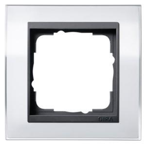 Рамка Gira Event Clear Белый 1 пост цвет вставки Антрацит