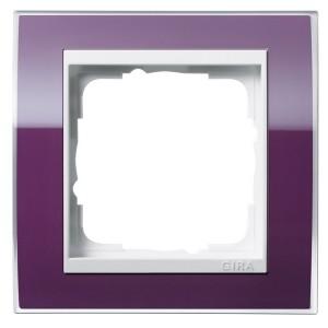 Рамка 1-ая Gira Event Clear Фиолетовый цвет вставки Белый глянцевый