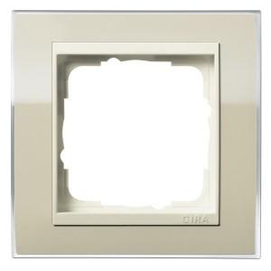 Рамка 1-ая Gira Event Clear Песочный цвет вставки Кремовый глянцевый