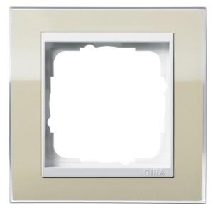 Рамка 1-ая Gira Event Clear Песочный цвет вставки Белый глянцевый