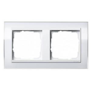 Рамка 2-ая Gira Event Clear Белый цвет вставки Белый глянцевый