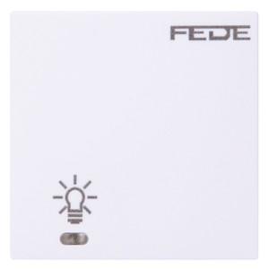 Выключатель сенсорный 1-клав. с подсветкой, с суппортом 600Вт 10А 250В Fede Белый