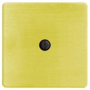 Выключатель поворотный двухклавишный Fede Bright Gold