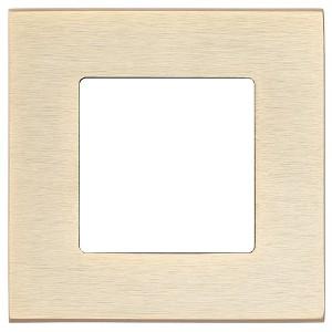 Рамка квадратная на 1 пост гор/верт Soho Fede, матовая латунь