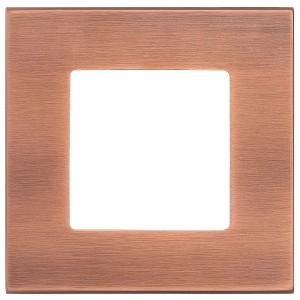 Рамка квадратная на 1 пост гор/верт Soho Fede, матовая медь